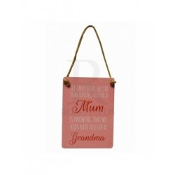 Novelty Metal Sign - Better than having you for a mum mini metal sign 65mm x 90mm