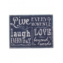Fridge Magnet - magnetic metal plaque live every moment magnetic 80mmx105mm