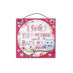 Metal Sign - cutie owl love...