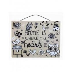 Mini Plaque - home is where...