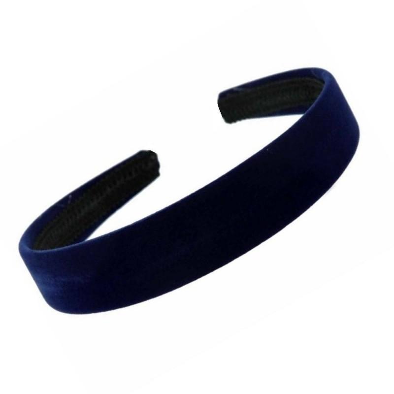 aliceband - color azul marino de terciopelo escolares 2,5cm rebaño niñas señoras venda aliceband hairband