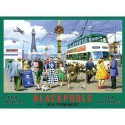 Blackpool metal wall sign 10187 - 15x20cm sign
