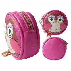 Plum Pink LYDC LADIES/GIRLS ANNA SMITH OWL DESIGN PURSE Small Brand New COIN BAG