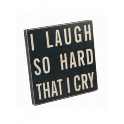 Fridge Magnet Coaster - I laugh so hard that i cry magnet coaster
