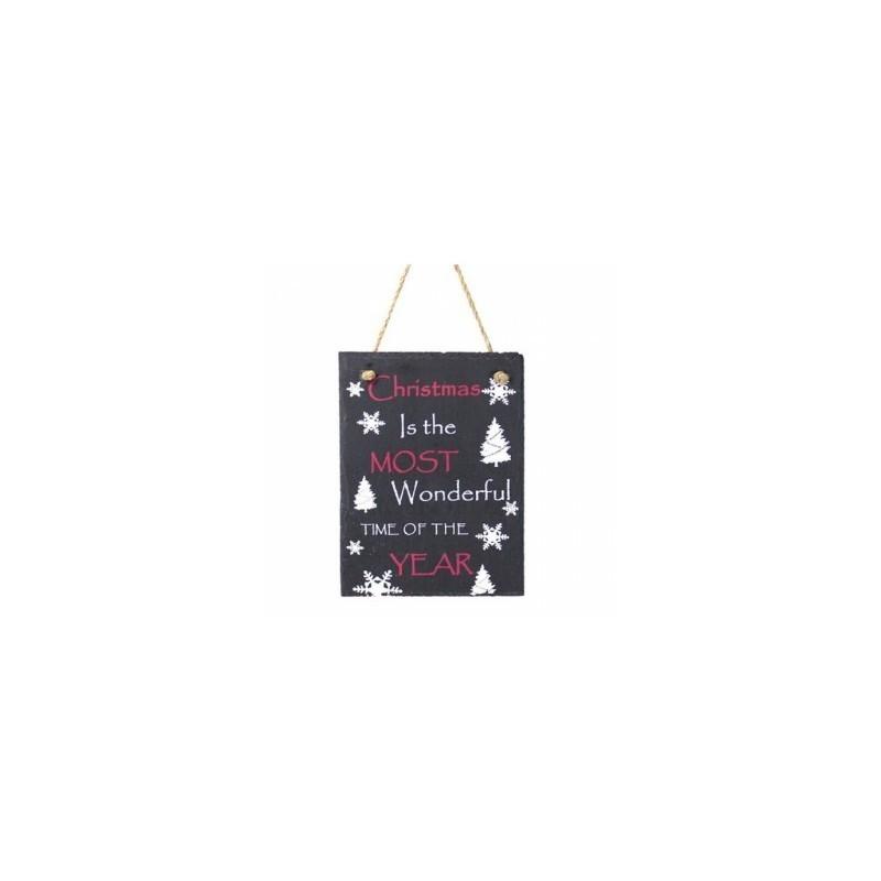 Slate Sign - christmas wonderful slate sign