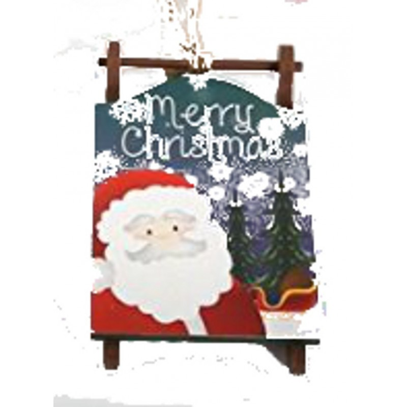 Christmas Sled Signs - xmas wooden hanging sledge decorations