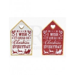 Christmas Love House - christmas everyday plaque Red or...