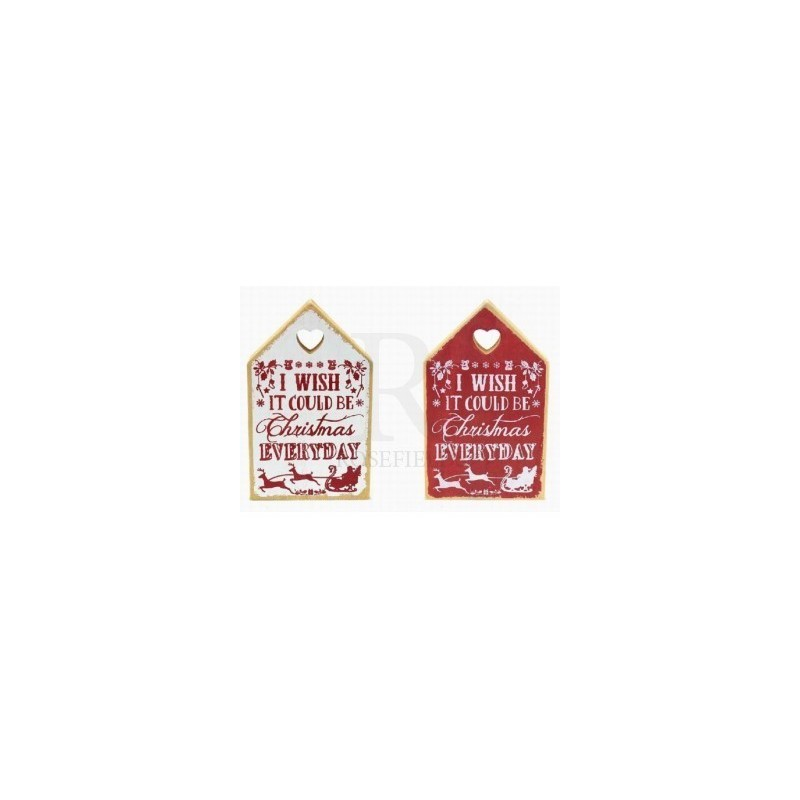 Christmas Love House - christmas everyday plaque Red or White