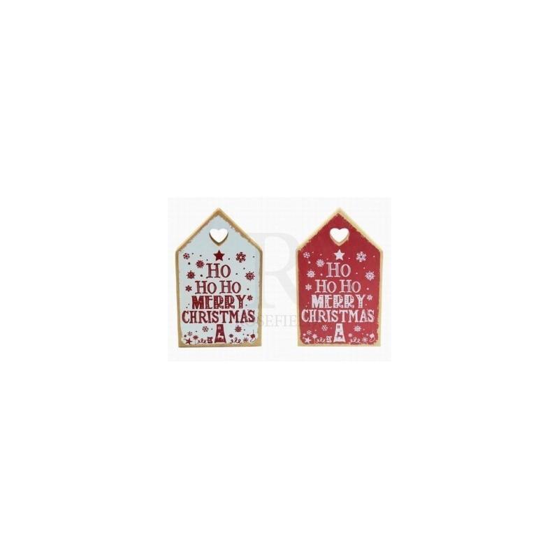 Christmas Ho Ho Ho - christmas plaque Red or White