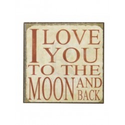 Fridge Magnet - love you to the moon and back magnet