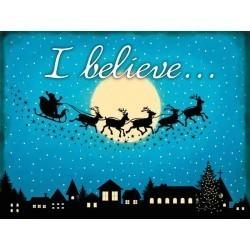 I Believe festive metal wall sign 60531 15x20cm
