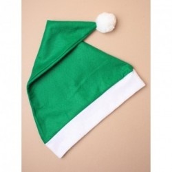 Christmas Santa Hat in green with white trim