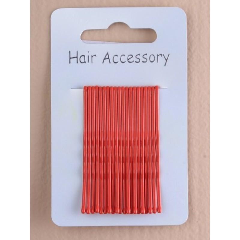 Hair Grips - 20 Bright Red 4.5cm Kirby Hair Grips.