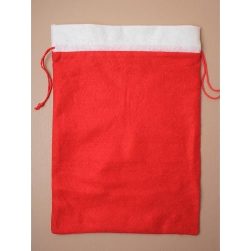 Christmas Sack - Felt Christmas Santa sack with cord drawstring Size: H40xW29cm