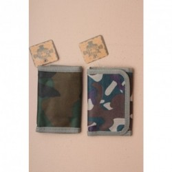 Small Wallet - Trifold Camouflage wallet in a choice of 2 colourways.