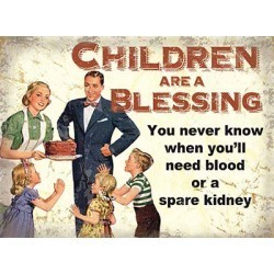 Children are a blessing metal wall sign - 80199