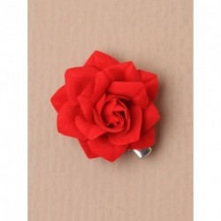 Hair Clip - Small red rose beak hair clip.