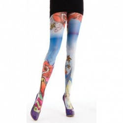 Tattoo Designer Psychedelic Prints Ladies Tights -...