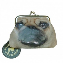 Pug Coin Purse with snap fasten clasp