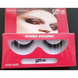 Saffron Natural False Eyelashes & Adhesives Hand made...