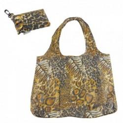 Clip on Bag - Re-usable Animal Print Folding Pocket Bag...