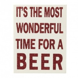 Christmas Sign - It's the most wonderful time for a beer 10x13x2.5cm