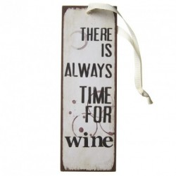 Metal Sign - There is always time for wine - mini metal sign