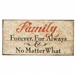Fridge Magnet - Family - Forever, for always and no...
