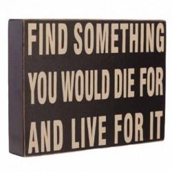 Wooden Sign - Find...