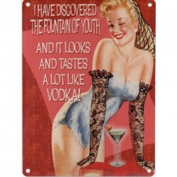 Metal Sign - THE FOUNTAIN OF YOUTH Metal Enamel Advertising Wall Sign 200mm x 150mm