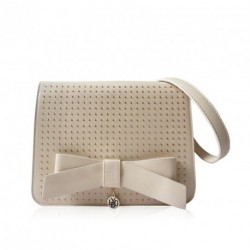 Ladies Studded Faux Leather LYDC Bow Overbody Bag...