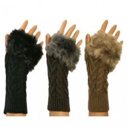 Fittens - Fingerless Furry Mittens Ladies Winter Kit Mit...