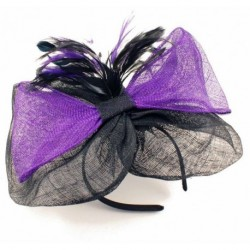 Hatinator Aliceband - Purple and Black Large Sinamay...