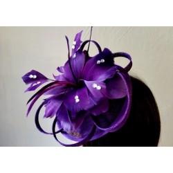Hatinator Headband Hair band - Purple Flower Feather...