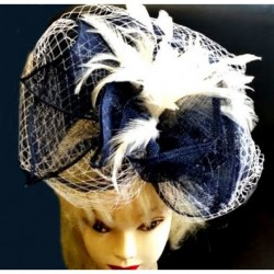 Hatinator Headband Hair Band - Navy Blue Cream 2 tone...