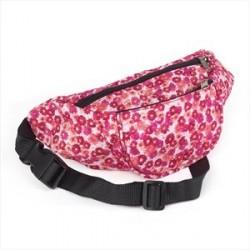 Fuchsia pink tone flower print bum bag.