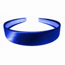 Royal Blue Shiny Satin Headband - 2.5cm School Girls Ladies Headband Hair band Aliceband