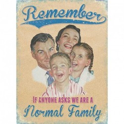 A Normal Family Sign Funny Sign Novelty Gift Home Gift Sign Plaque