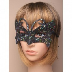 Face Mask - Butterfly glitter masquerade mask In silver, gold or black.