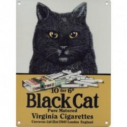 BLACK CAT CIGARETTES Enamel Metal Advertising Sign (SMALL...