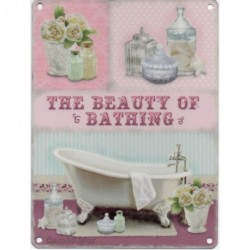 The Beauty of Bathing Metal Sign Nostalgic Vintage Retro Advertising Enamel Wall Plaque 200mm x 150mm