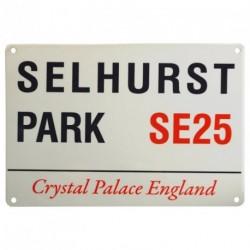 CRYSTAL PALACE F.C. SELHURST PARK SE25 MINI STREET SIGN