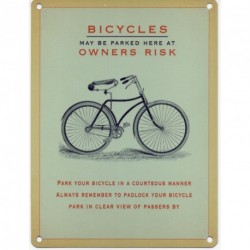 BICYCLES MAY BE STORED Metal Advertising Sign (SMALL...