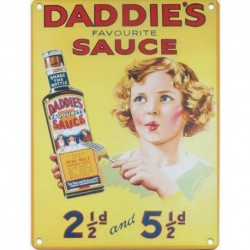 DADDIE'S SAUCE Metal Advertising Sign (SMALL 200mm X 150mm)