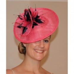 Hatinator Aliceband - 2 tone Colour Pink Black Navy Ivory...