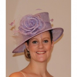 Sinamay Hat decorated with a flower, bow, feather and mesh Wedding Parties Races