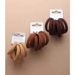 Hair Elastics - 6 Thick brown Jersey fabric endless elastics. In choice of 3 brown shades.