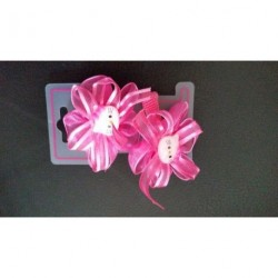 Pink Hair Elastic 2 pieces Children girl Hello Kitty Ribbon Stretchy Hair ponio