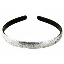 Silver Glitter Headband Girls Ladies Hairband 1.3cm Wide Aliceband Great Gift