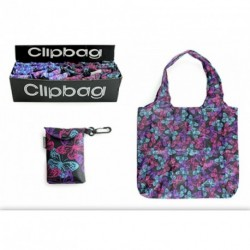 Clip on Bag - Re-usable Animal Print Folding Pocket Bag with clip on key ring